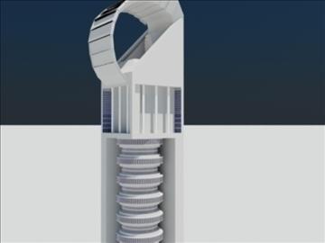 tower building 1 3d model max 93089