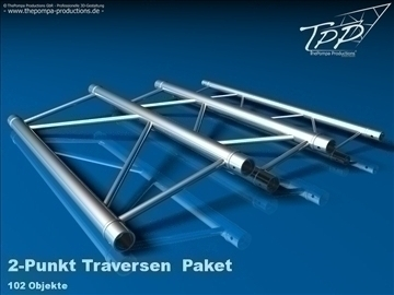 tpp 1 truss package complete 3d model 3ds dxf fbx c4d x obj 107233