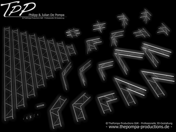 tpp 1 truss package complete 3d model 3ds dxf fbx c4d x obj 107234