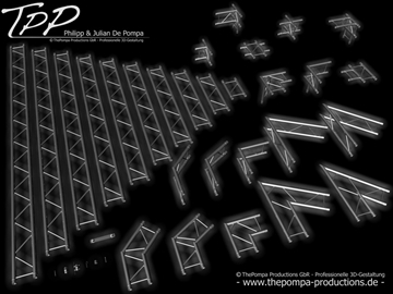 tpp 1 truss package complete 3d model 3ds dxf fbx c4d x obj 107235