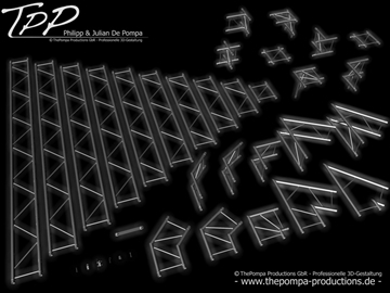 tpp 1 truss package complete 3d model 3ds dxf fbx c4d x obj 107236