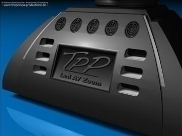tpp mh 1 led a7 zoom 3d model 3ds dxf fbx c4d obj 107380
