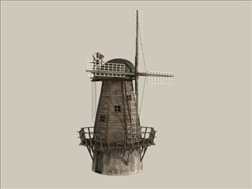 windmill v1 3d model 3ds max jpeg jpg lwo obj 80661