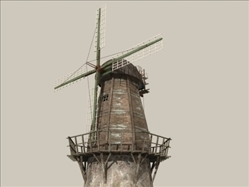 windmill v1 3d model 3ds max jpeg jpg lwo obj 80662