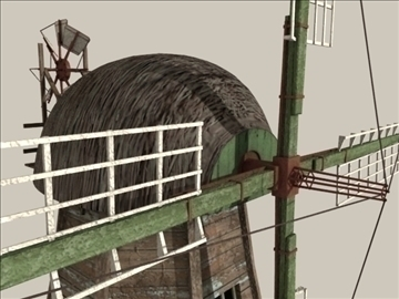 windmill v1 3d model 3ds max jpeg jpg lwo obj 80664