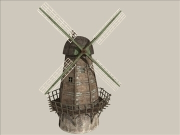 windmill v1 3d model 3ds max jpeg jpg lwo obj 80665