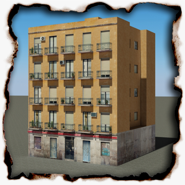 building 100 two 3d model 3ds max fbx texture obj 157821