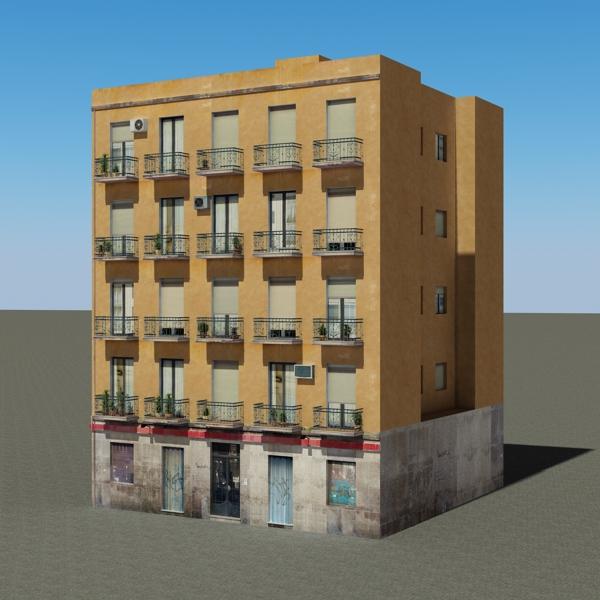 ēkas 100 divi 3d modeļa 3ds max fbx tekstūra obj 157822