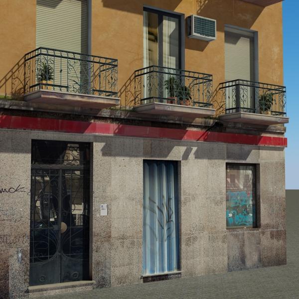 ēkas 100 divi 3d modeļa 3ds max fbx tekstūra obj 157824
