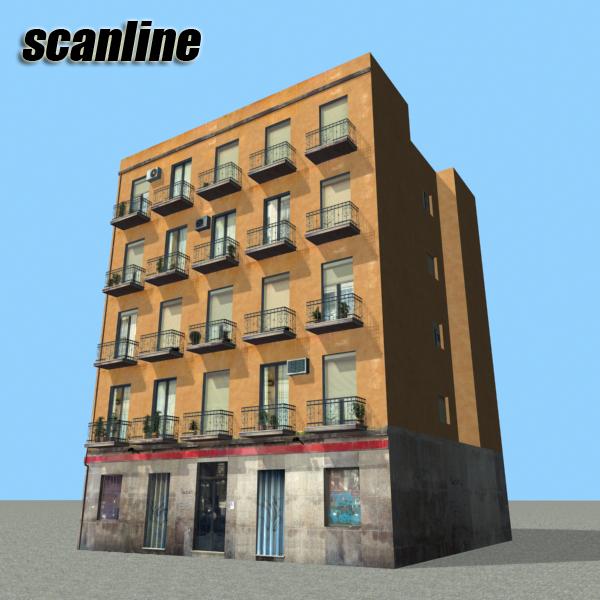 ēkas 100 divi 3d modeļa 3ds max fbx tekstūra obj 157830