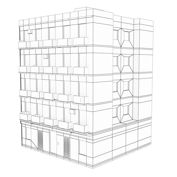 ēkas 100 divi 3d modeļa 3ds max fbx tekstūra obj 157833