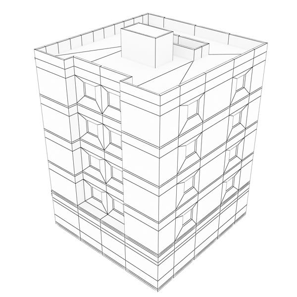 ēkas 100 divi 3d modeļa 3ds max fbx tekstūra obj 157834