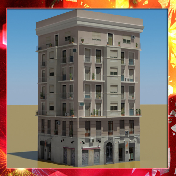 building 29 3d model 3ds max fbx texture obj 151124