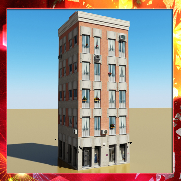 building 41 3d model 3ds max fbx texture obj 152397