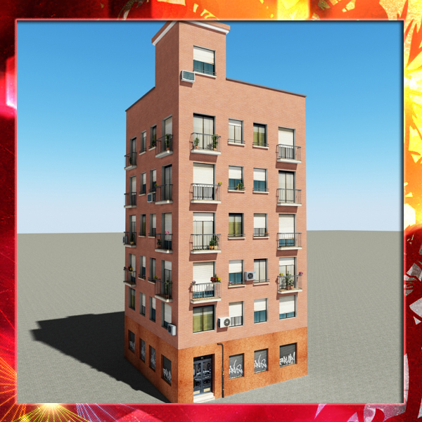 building 45 3d model 3ds max fbx texture obj 152784