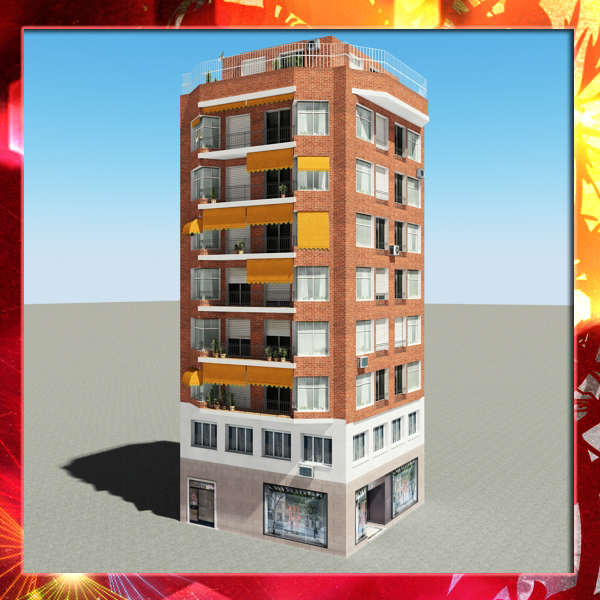 building 49 3d model 3ds max fbx texture obj 153126