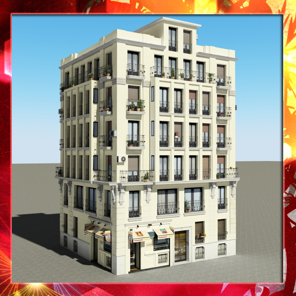 building 51 3d model 3ds max fbx texture obj 153198