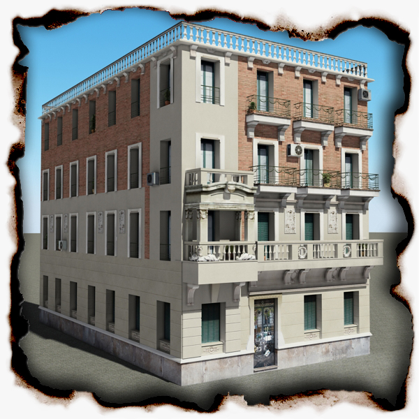 building 54 3d model 3ds max fbx texture obj 153588