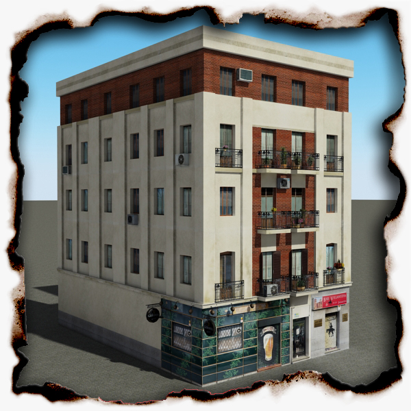building 55 3d model 3ds max fbx texture obj 153690