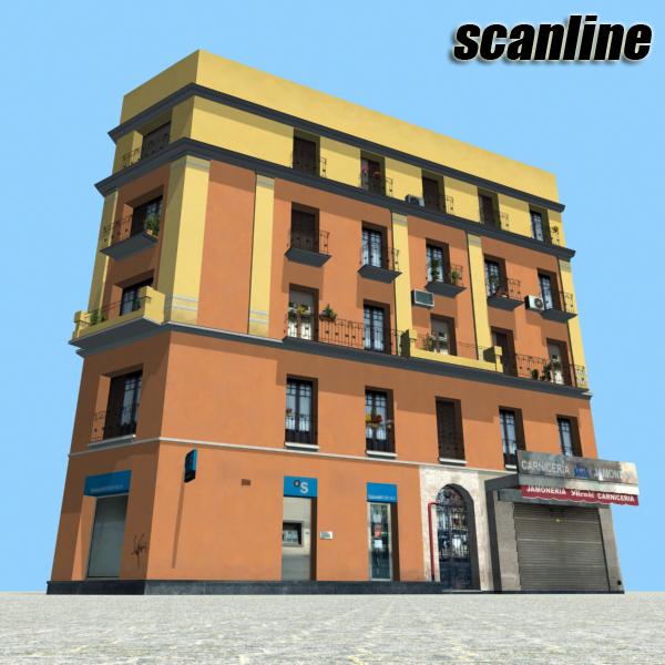 building 60 3d model 3ds max fbx texture obj 154025