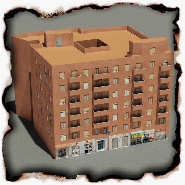 building 64 3d model 3ds max fbx texture obj 154287