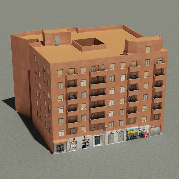 building 64 3d model 3ds max fbx texture obj 154288