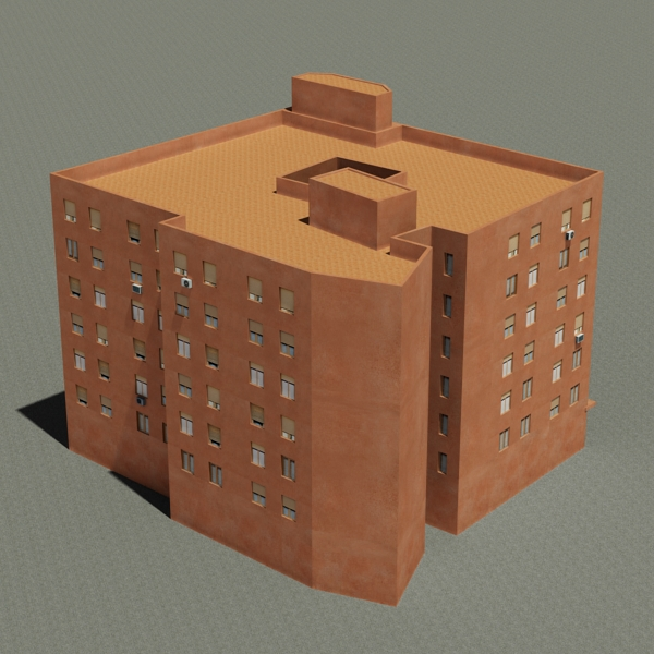 building 64 3d model 3ds max fbx texture obj 154289