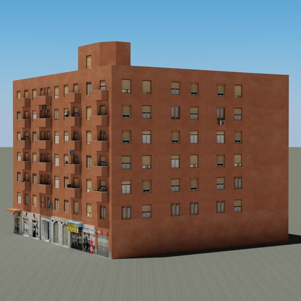 building 64 3d model 3ds max fbx texture obj 154290