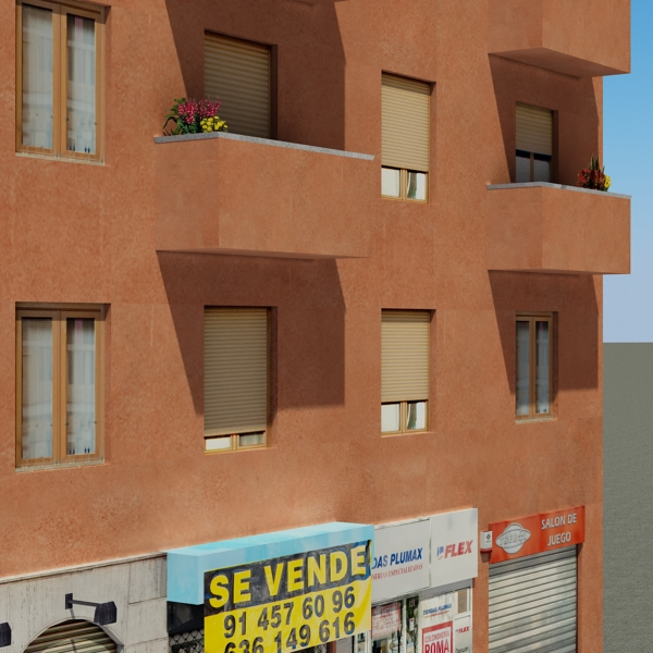 building 64 3d model 3ds max fbx texture obj 154294