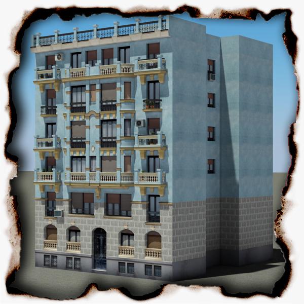 ēka 69 3d modelis 3ds max fbx faktūra obj 155468