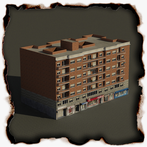 building 71 3d model 3ds max fbx texture obj 155634
