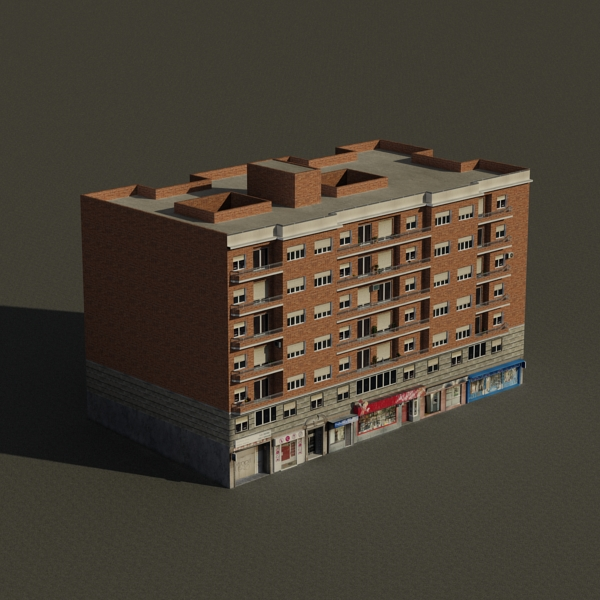 building 71 3d model 3ds max fbx texture obj 155635