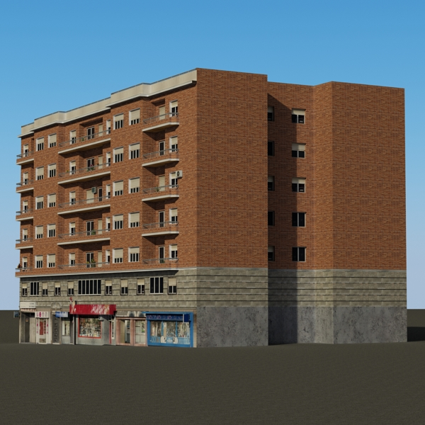 building 71 3d model 3ds max fbx texture obj 155636