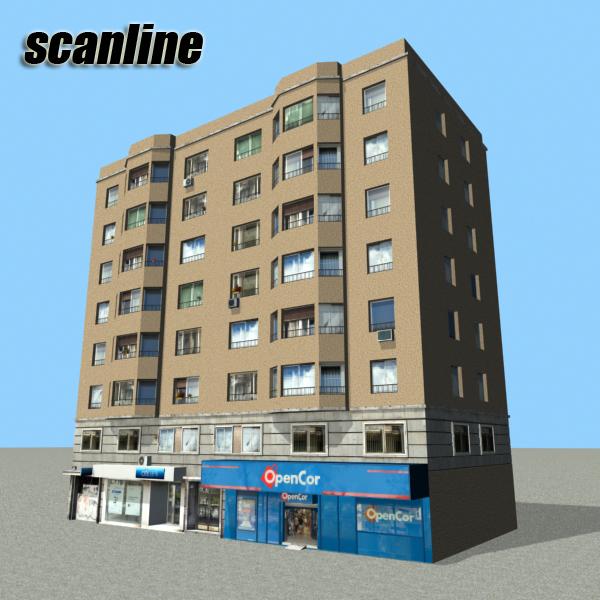 building 79 3d model 3ds max fbx texture obj 156881
