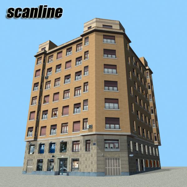building 85 3d model 3ds max fbx texture obj 157225