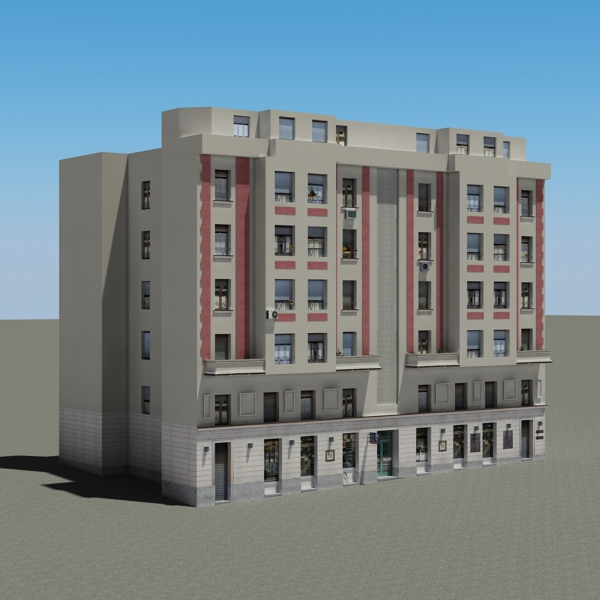 building 87 3d model 3ds max fbx texture obj 157368