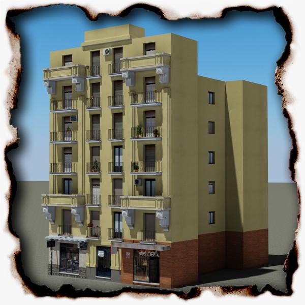 ēka 88 3d modelis 3ds max fbx faktūra obj 157382