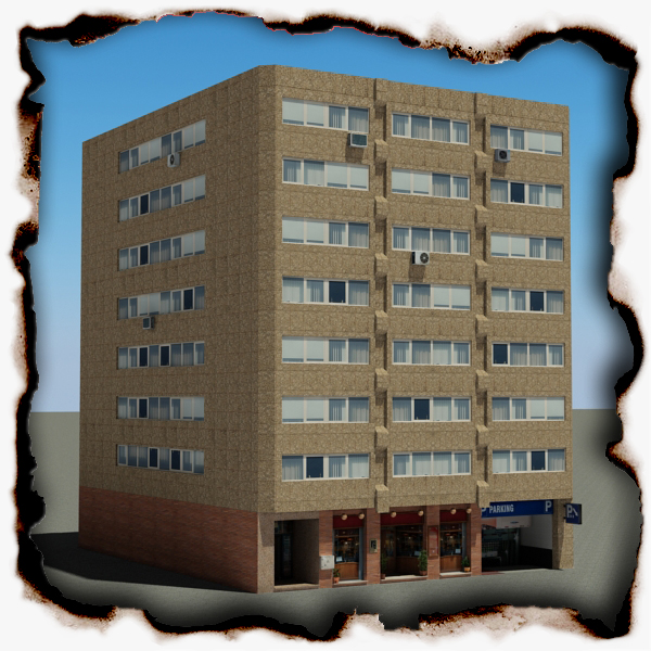 building 90 3d model 3ds max fbx texture obj 157552