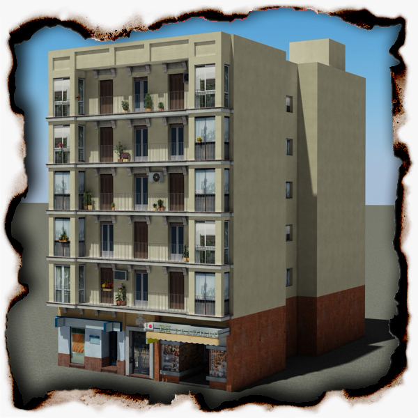 building 91 3d model 3ds max fbx texture obj 157566