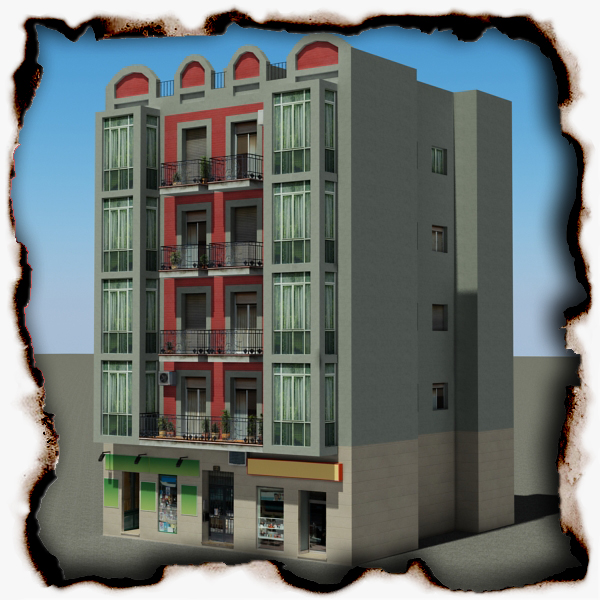 ēka 93 3d modelis 3ds max fbx faktūra obj 157605