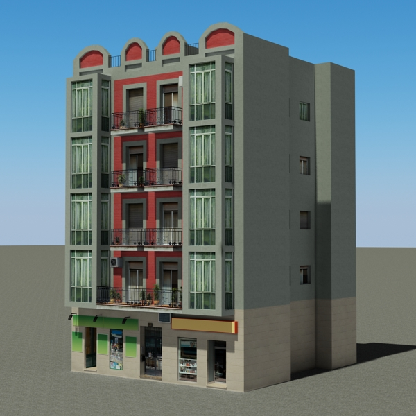 building 93 3d model 3ds max fbx texture obj 157606