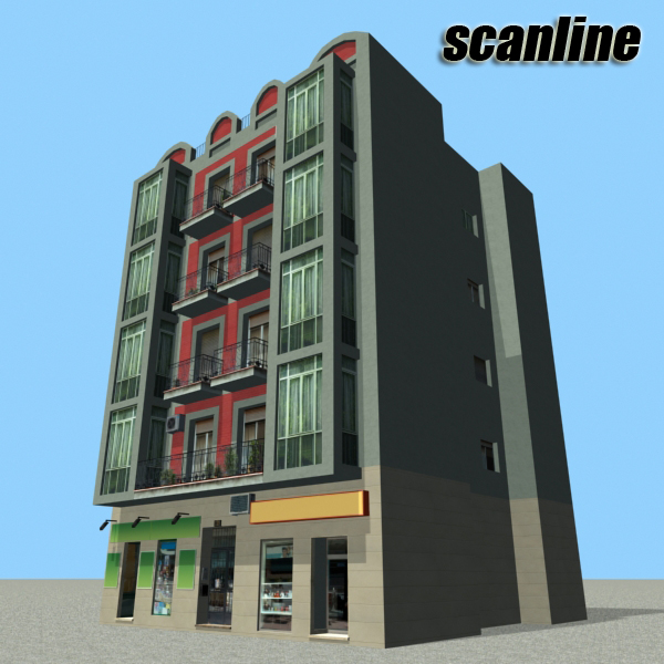 building 93 3d model 3ds max fbx texture obj 157614