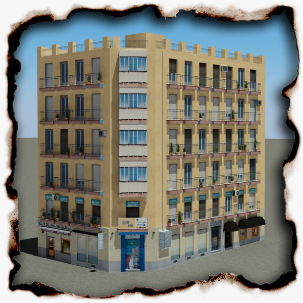 building 95 3d model 3ds max fbx texture obj 157677