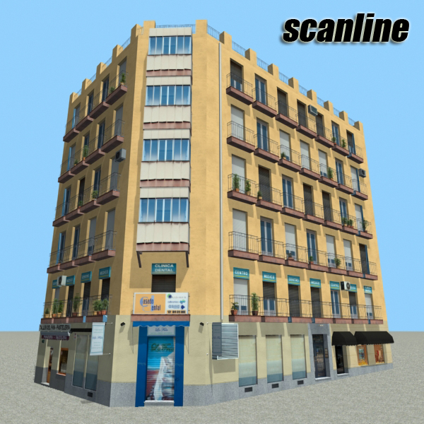 building 95 3d model 3ds max fbx texture obj 157687