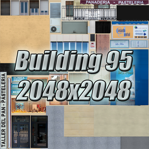 building 95 3d model 3ds max fbx texture obj 157688