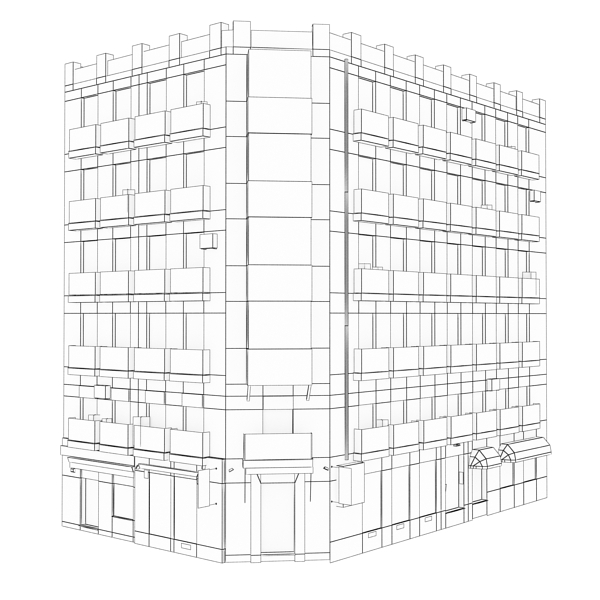 building 95 3d model 3ds max fbx texture obj 157690