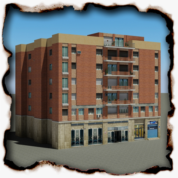 building 96 3d model 3ds max fbx texture obj 157693