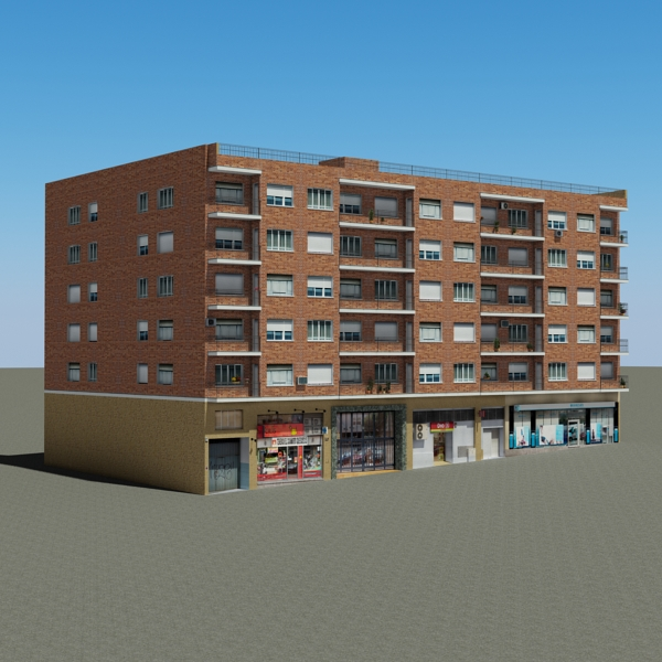 building 97 3d model 3ds max fbx texture obj 157718