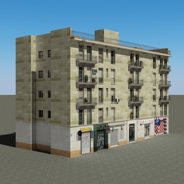 building 99 3d model 3ds max fbx texture obj 157804