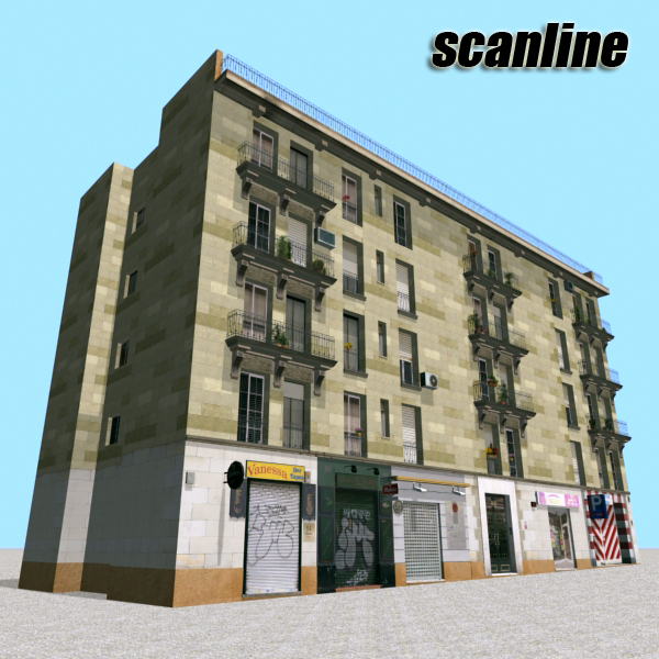 building 99 3d model 3ds max fbx texture obj 157815
